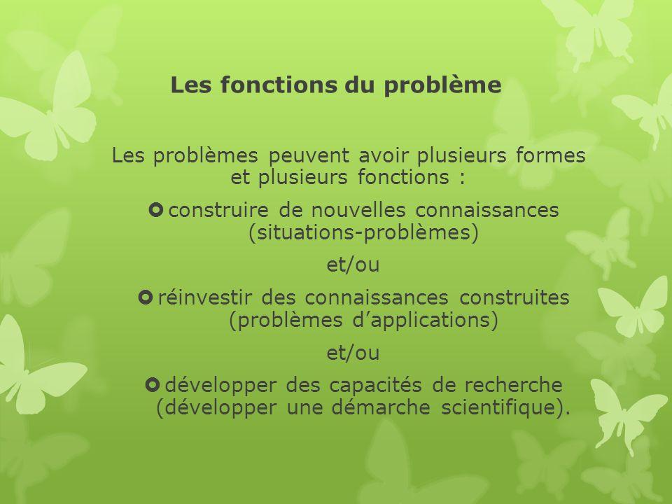 Les fonctions du problème