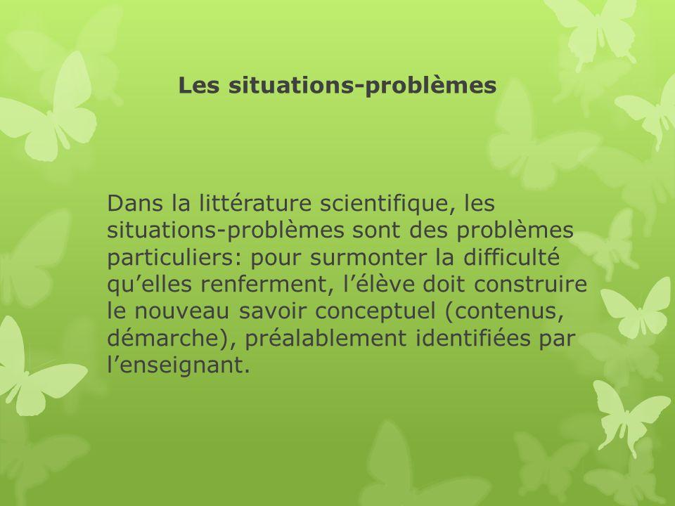 Les situations-problèmes