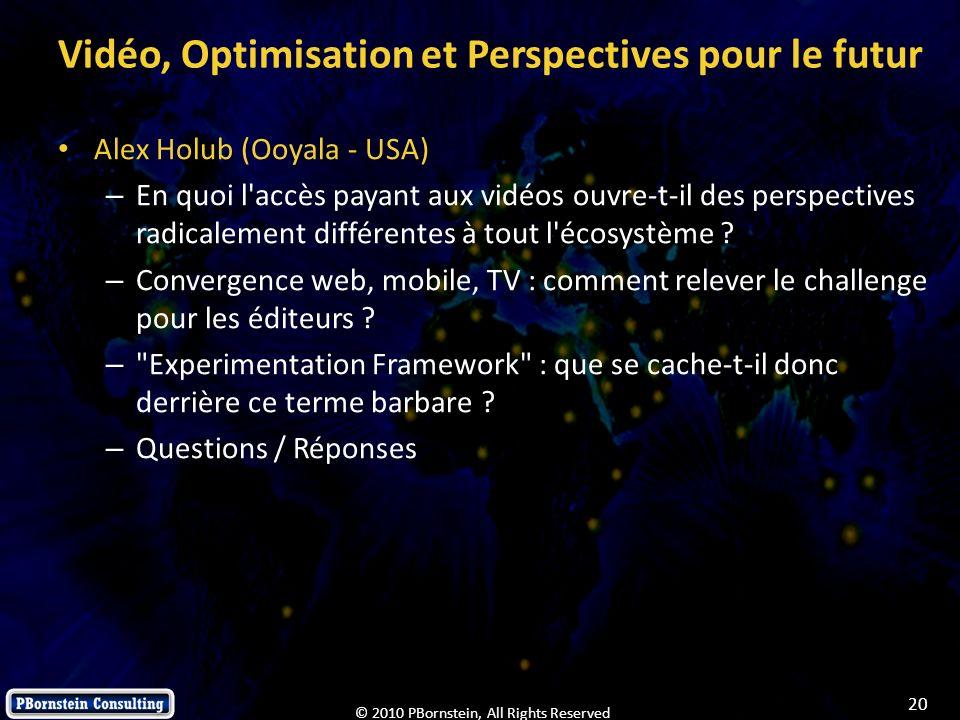Vidéo, Optimisation et Perspectives pour le futur