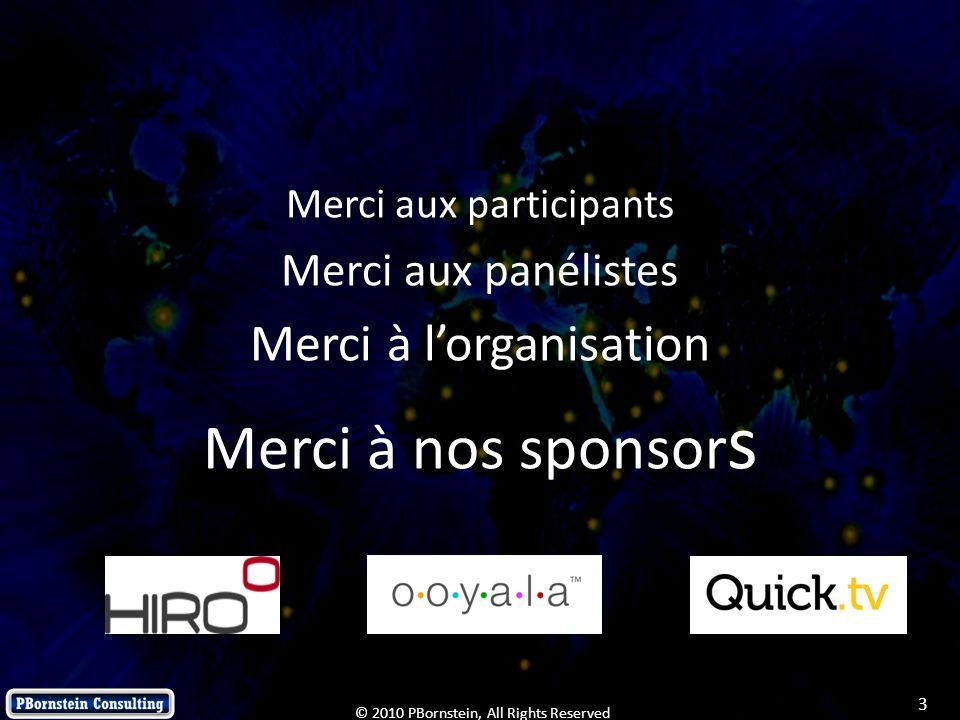 Merci à nos sponsors Merci à l'organisation Merci aux panélistes