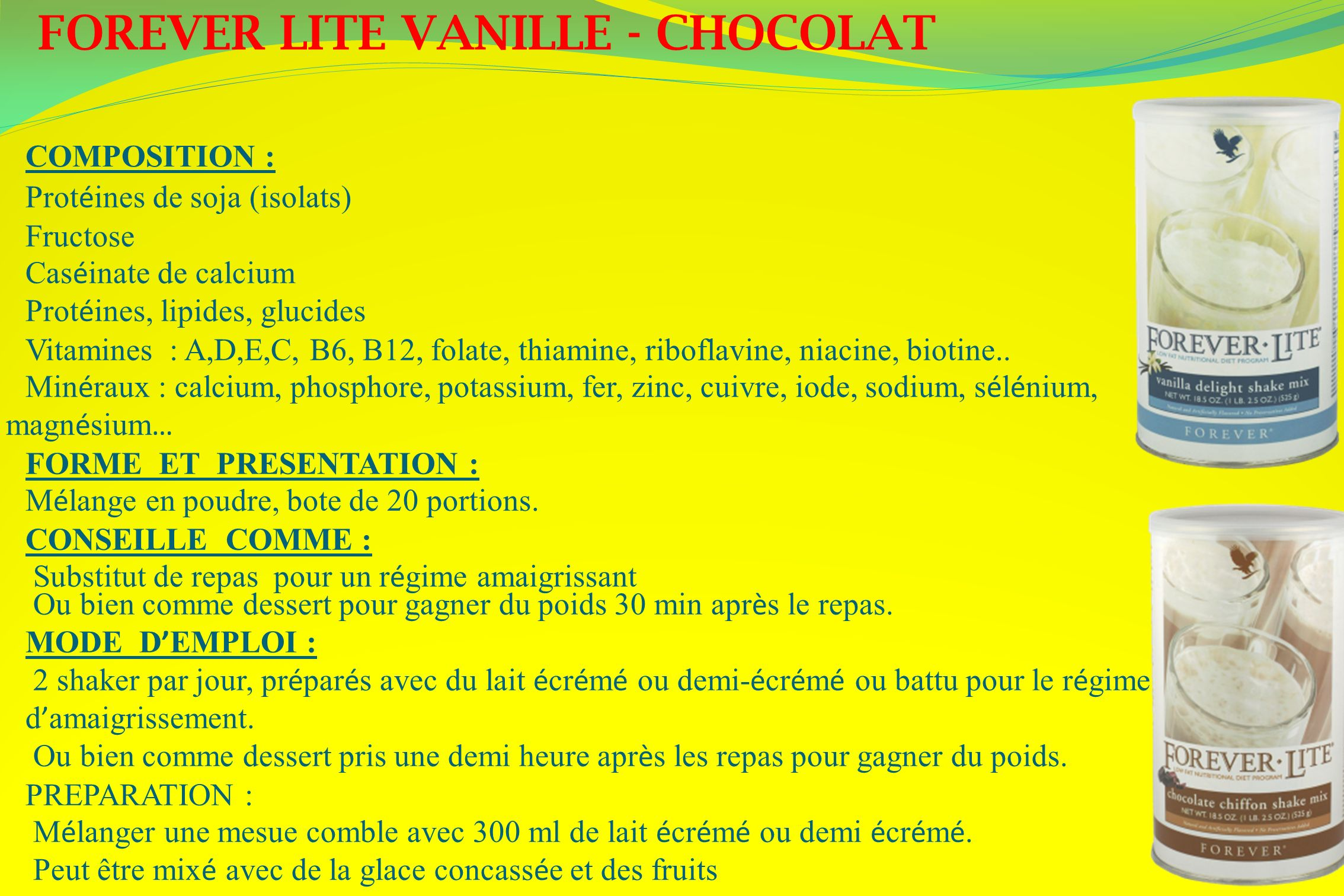 FOREVER LITE VANILLE - CHOCOLAT