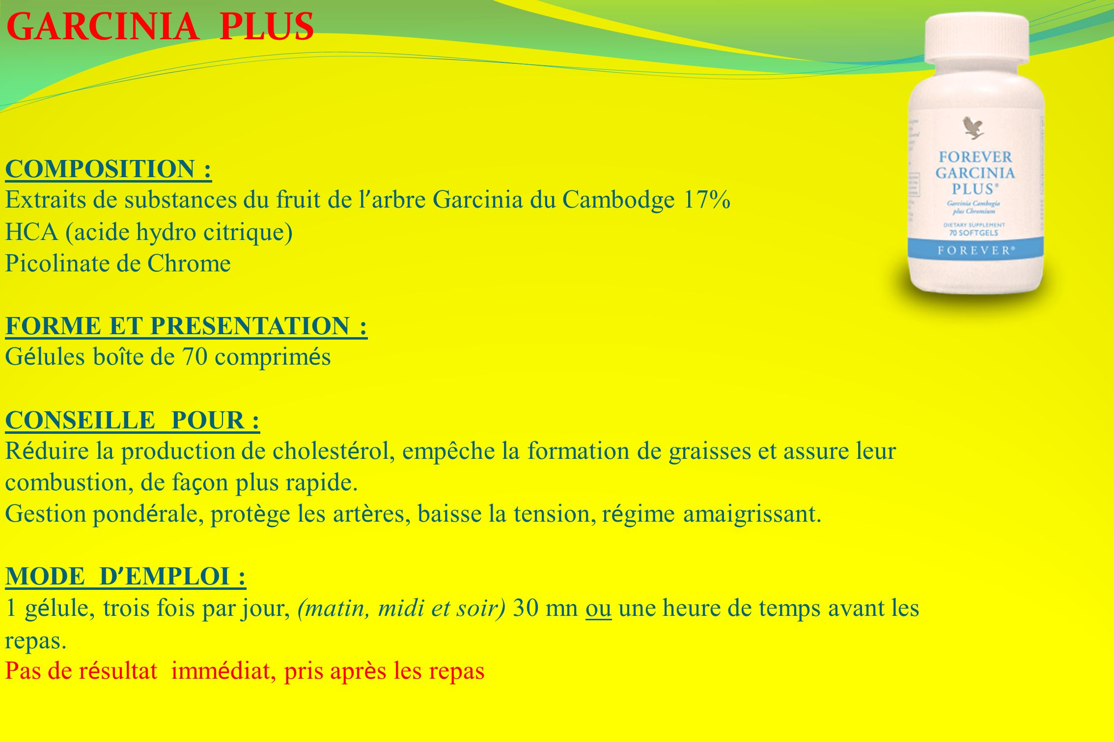 GARCINIA PLUS COMPOSITION :