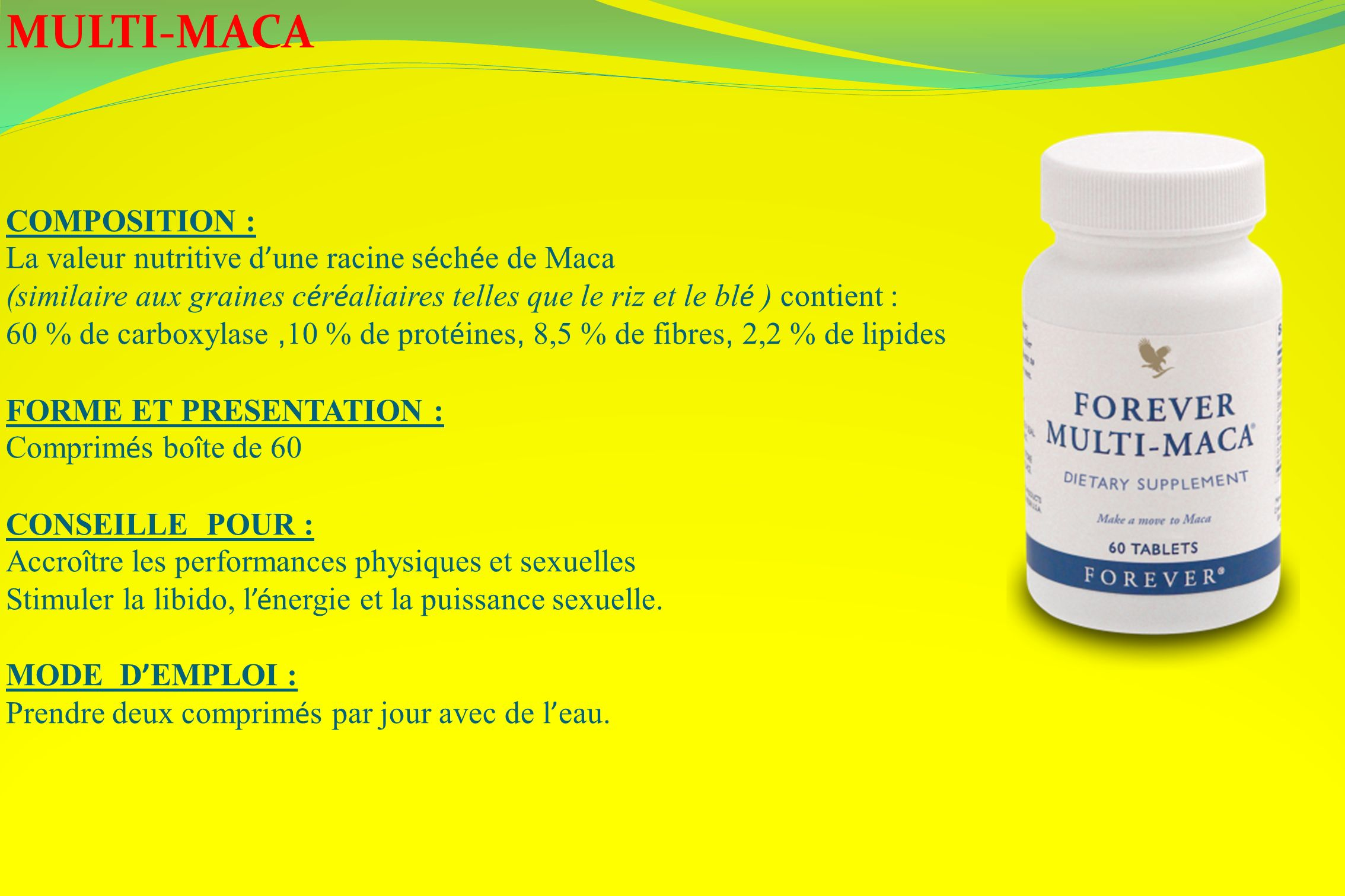 MULTI-MACA COMPOSITION :