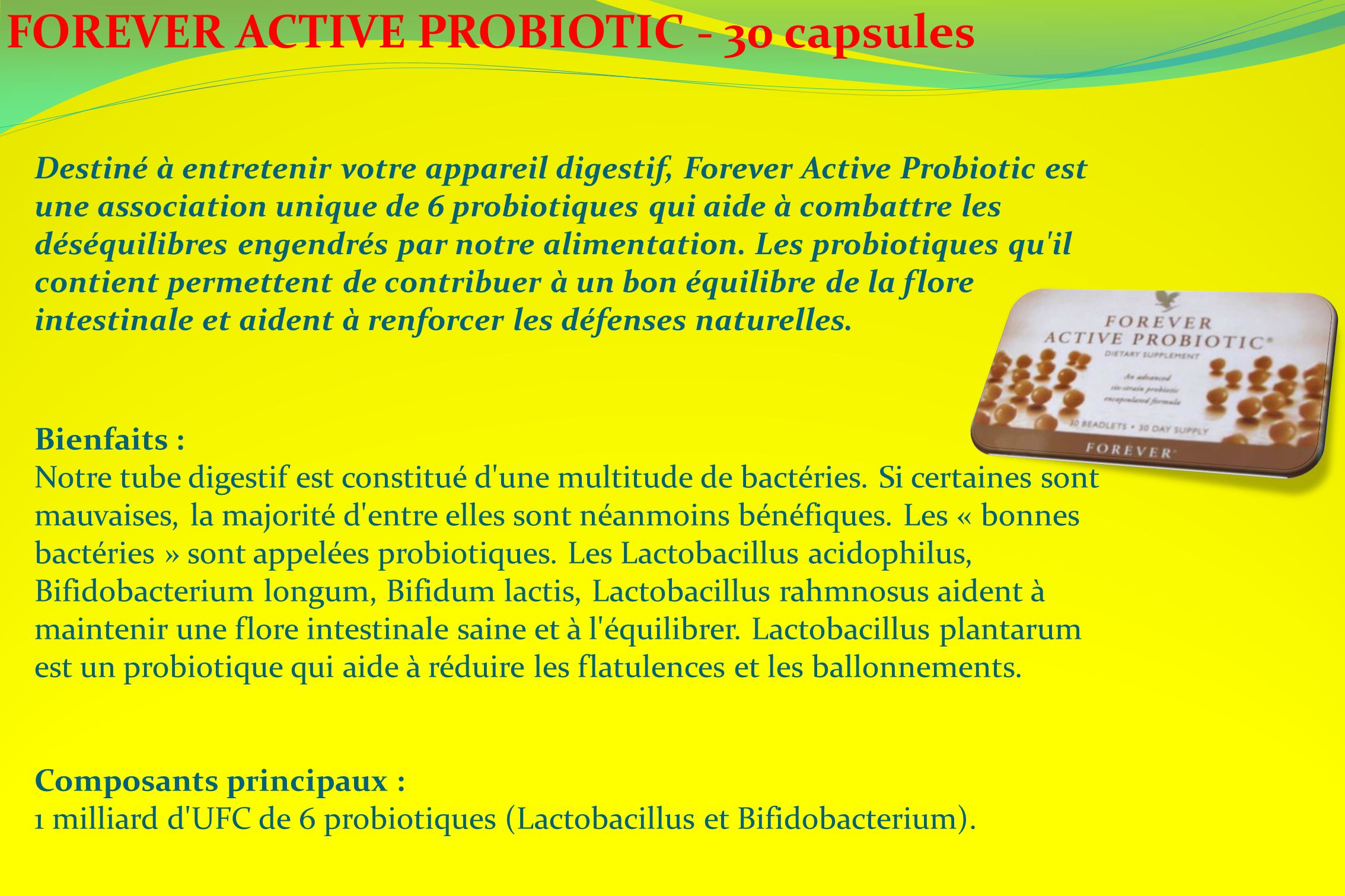 FOREVER ACTIVE PROBIOTIC - 30 capsules