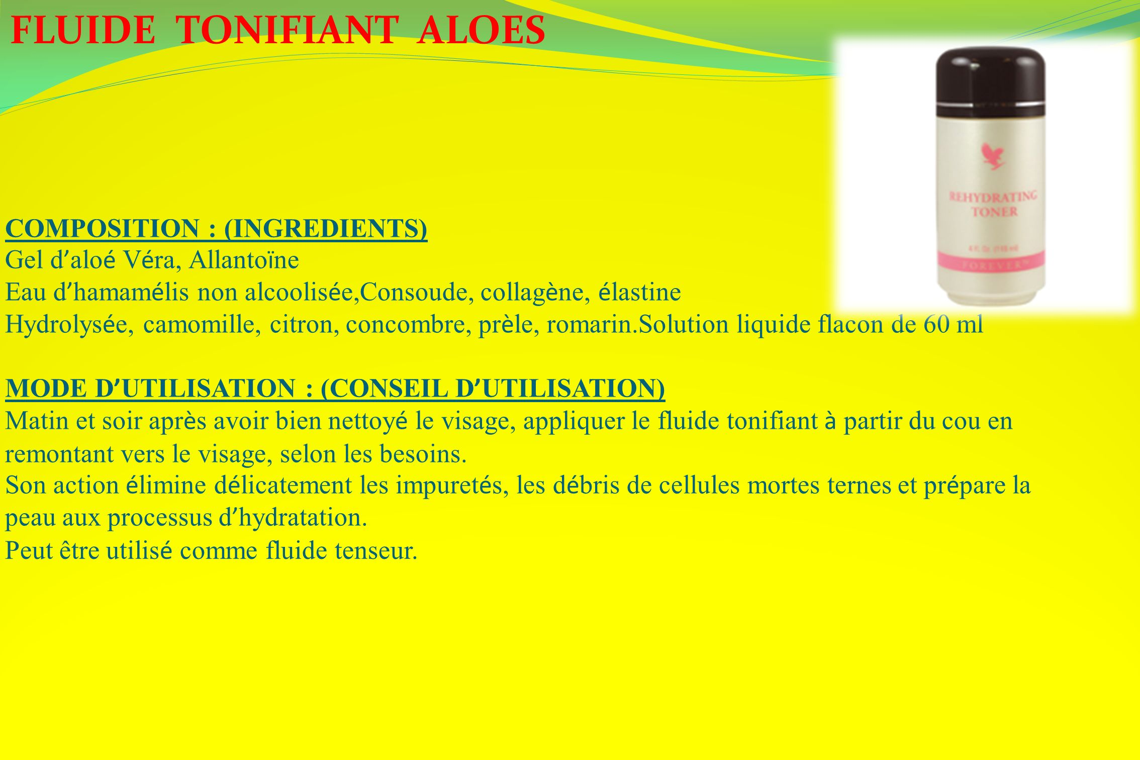 FLUIDE TONIFIANT ALOES