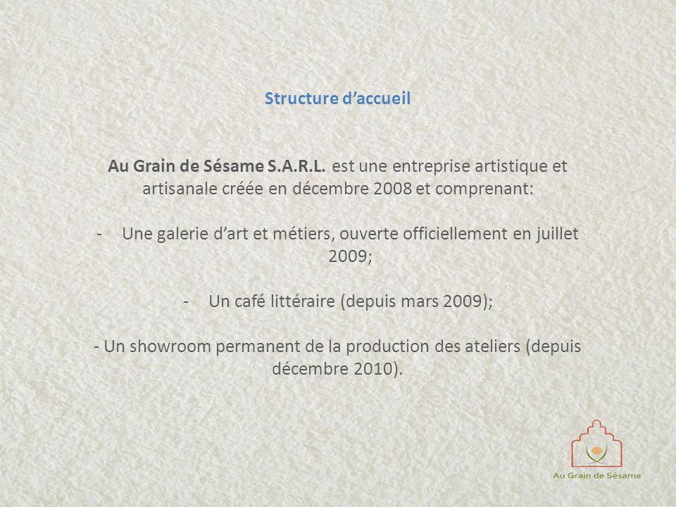 Une galerie d'art et métiers, ouverte officiellement en juillet 2009;