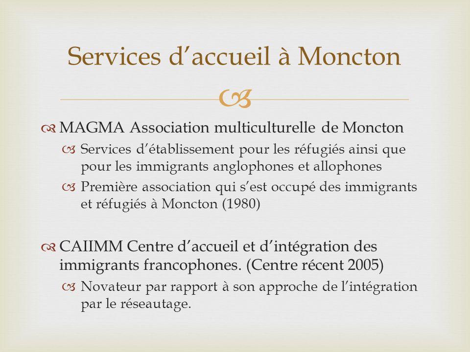 Services d'accueil à Moncton