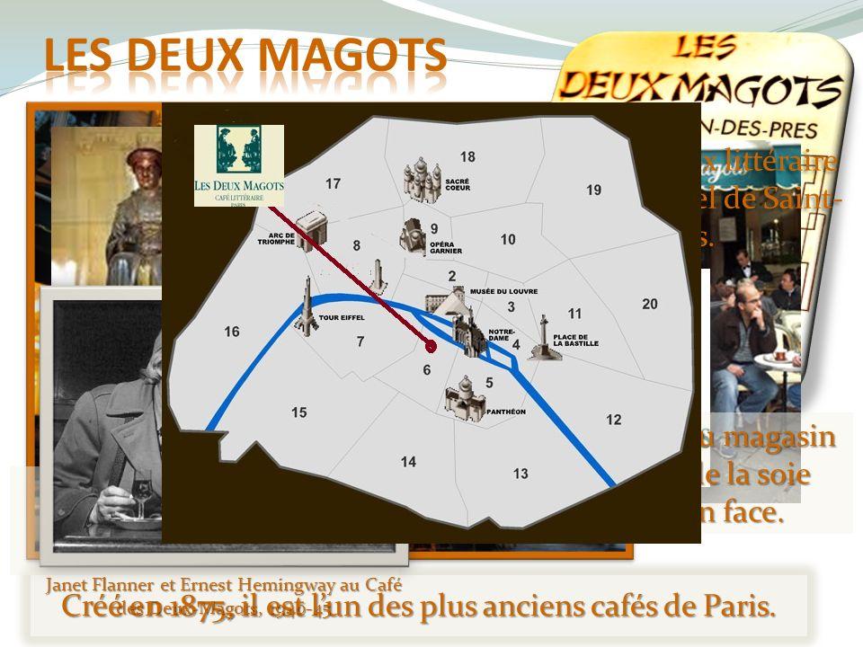 Les deux magots Depuis 1933 il a « son » prix littéraire et il reste « le » café culturel de Saint-Germain des Prés.
