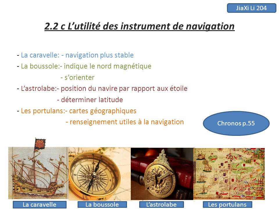 2.2 c L'utilité des instrument de navigation