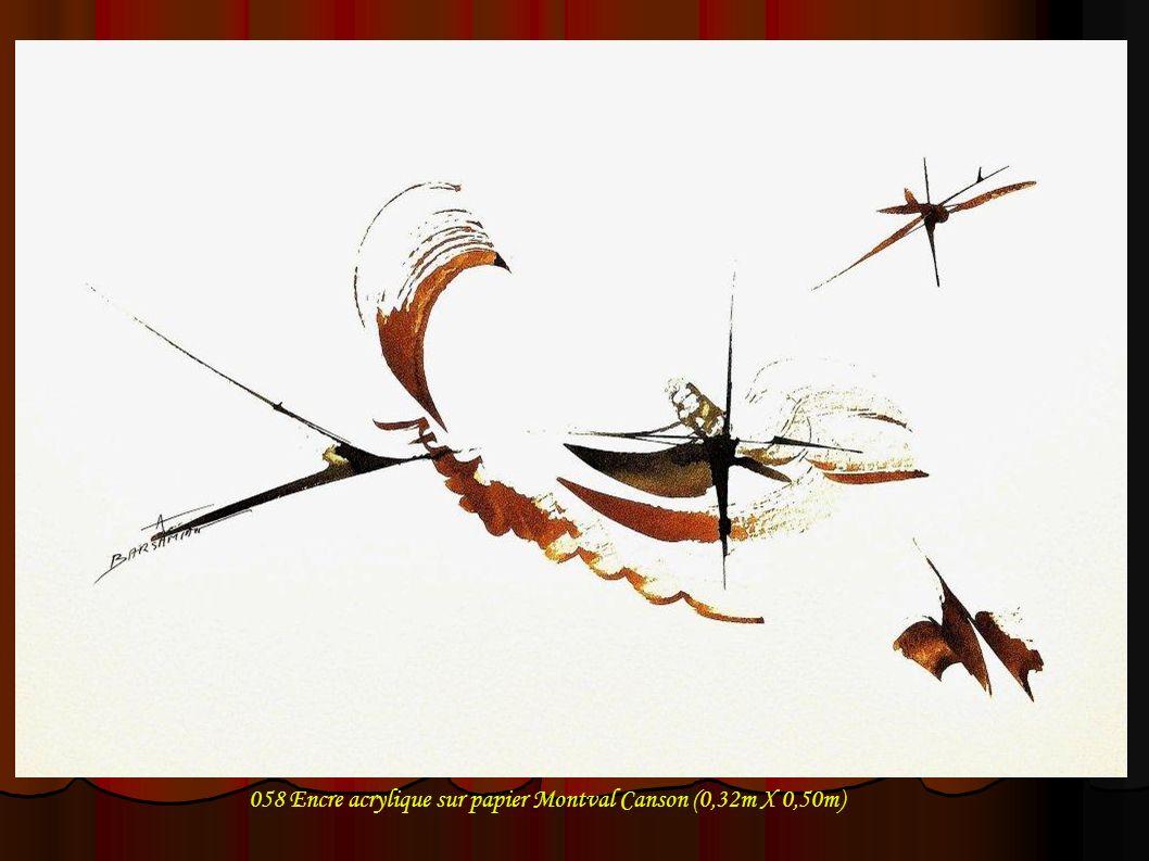 058 Encre acrylique sur papier Montval Canson (0,32m X 0,50m)