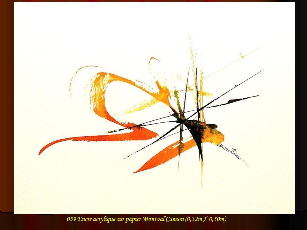 059 Encre acrylique sur papier Montval Canson (0,32m X 0,50m)