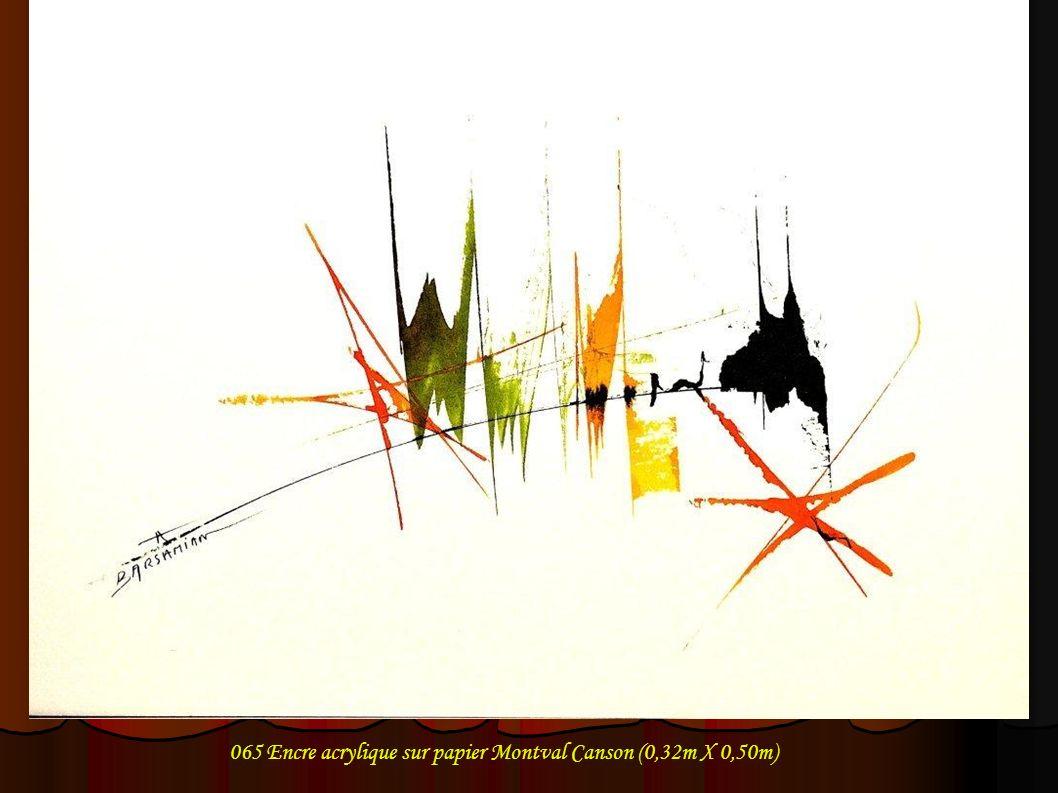 065 Encre acrylique sur papier Montval Canson (0,32m X 0,50m)