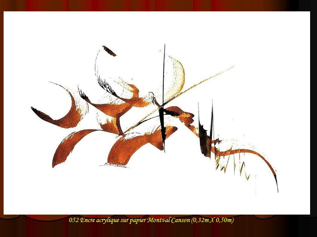 052 Encre acrylique sur papier Montval Canson (0,32m X 0,50m)