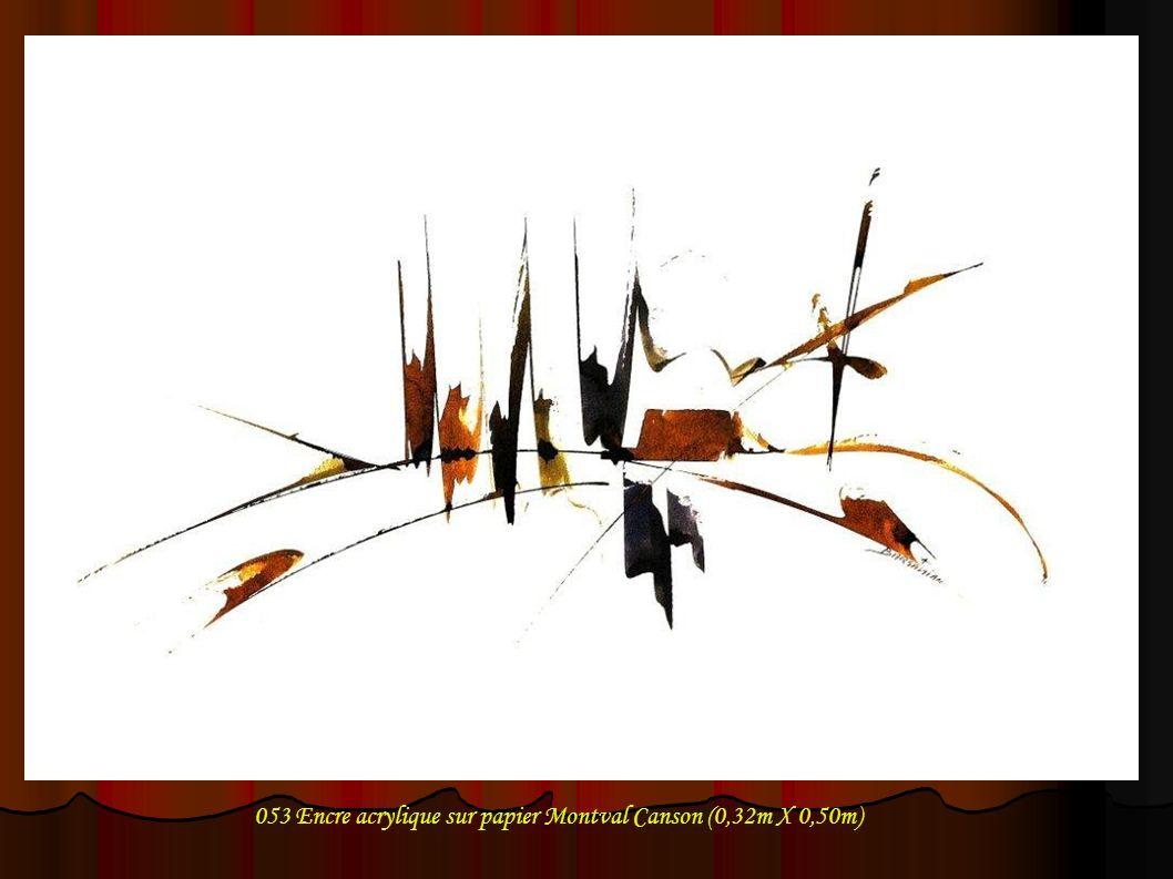 053 Encre acrylique sur papier Montval Canson (0,32m X 0,50m)