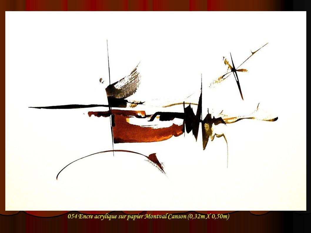 054 Encre acrylique sur papier Montval Canson (0,32m X 0,50m)