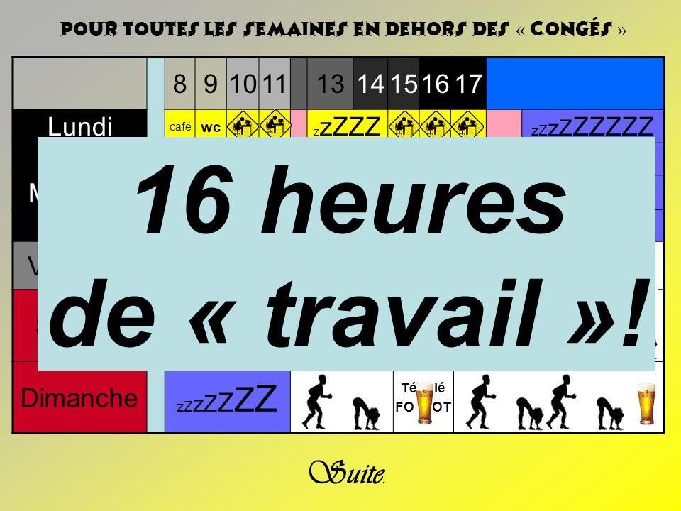 16 heures de « travail »! WCCC…ZZZ Suite. 8 9 10 11 13 14 15 16 17
