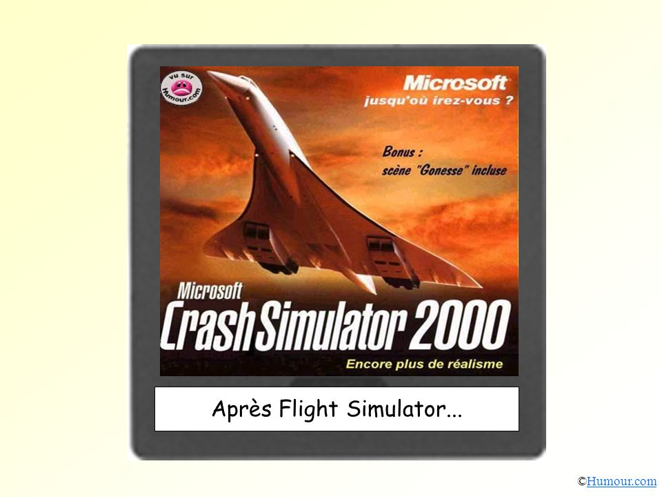 Après Flight Simulator...