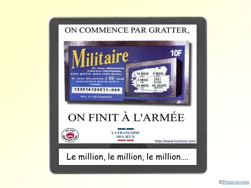 Le million, le million, le million….