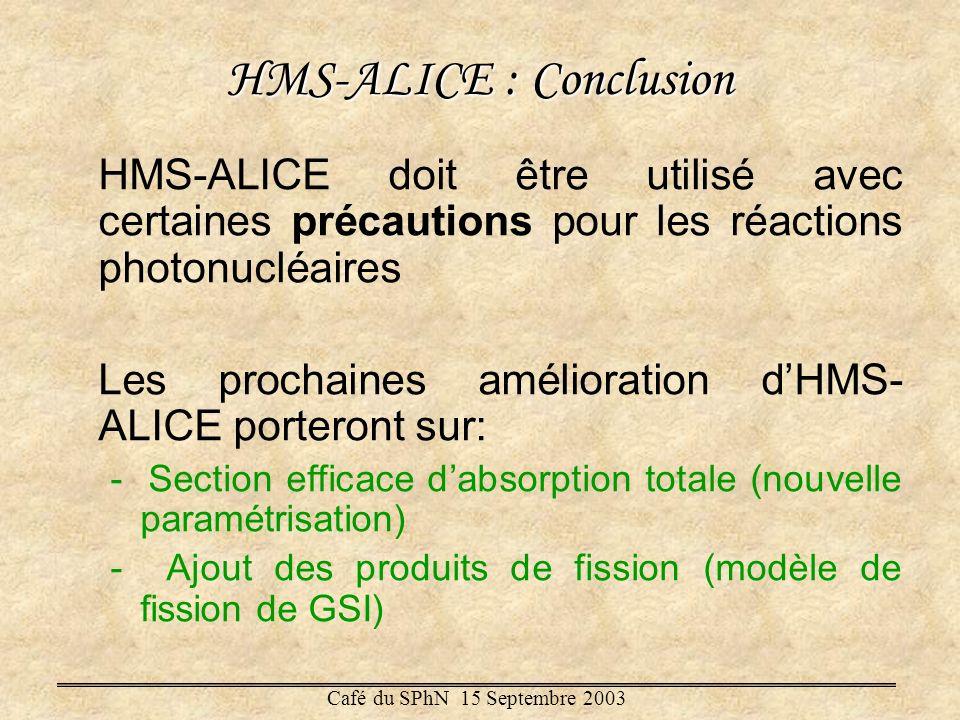 HMS-ALICE : Conclusion