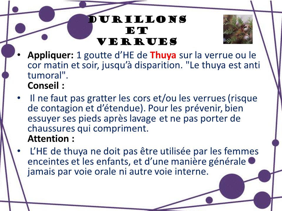 Durillons et Verrues