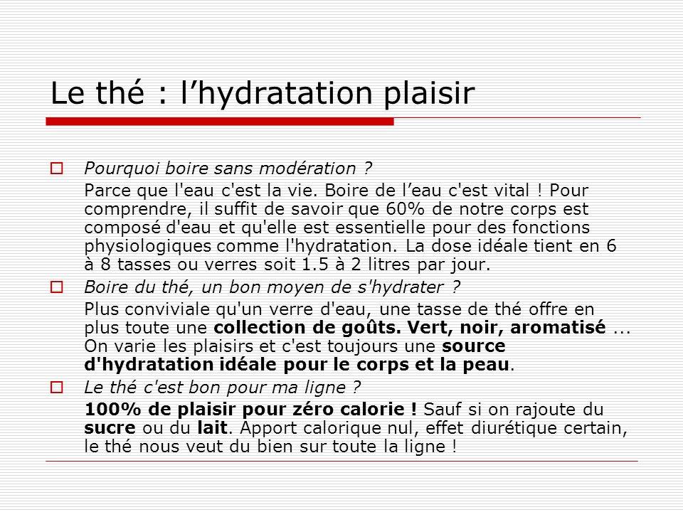 Le thé : l'hydratation plaisir