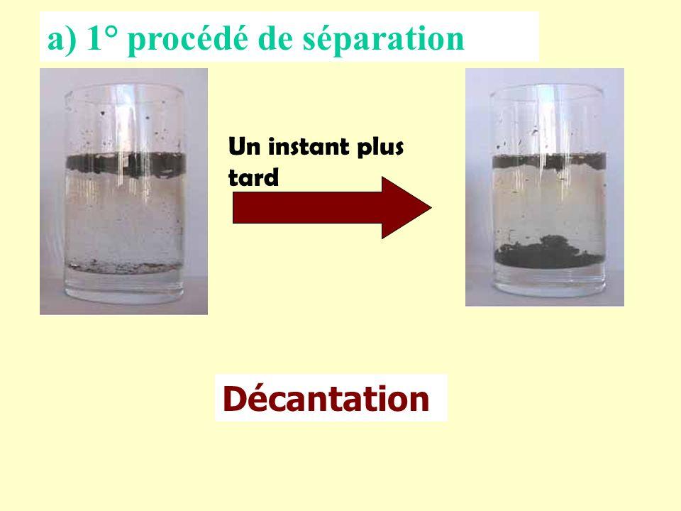 a) 1° procédé de séparation
