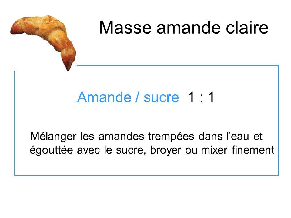 Masse amande claire Amande / sucre 1 : 1