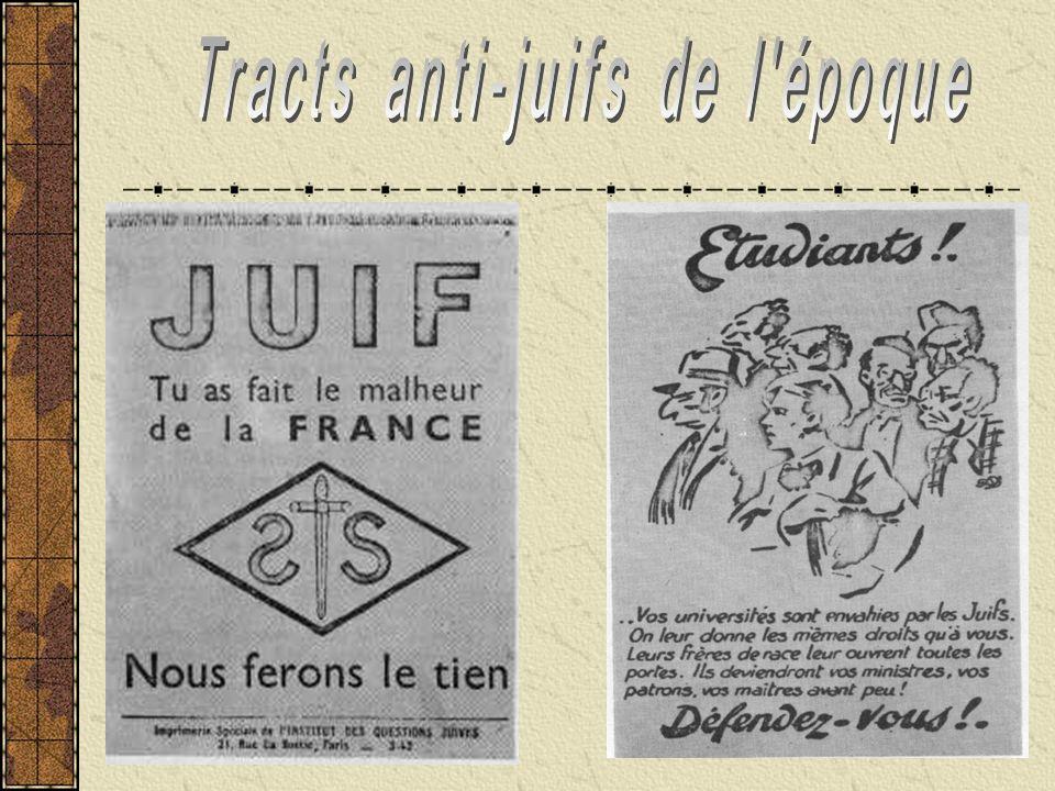 Tracts anti-juifs de l époque