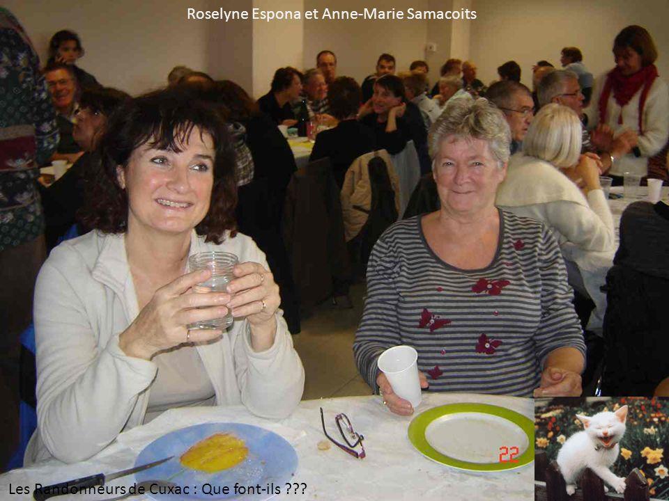 Roselyne Espona et Anne-Marie Samacoits