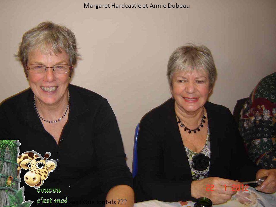 Margaret Hardcastle et Annie Dubeau