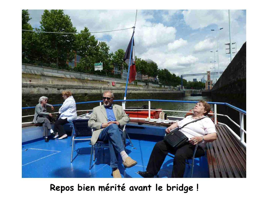 Repos bien mérité avant le bridge !