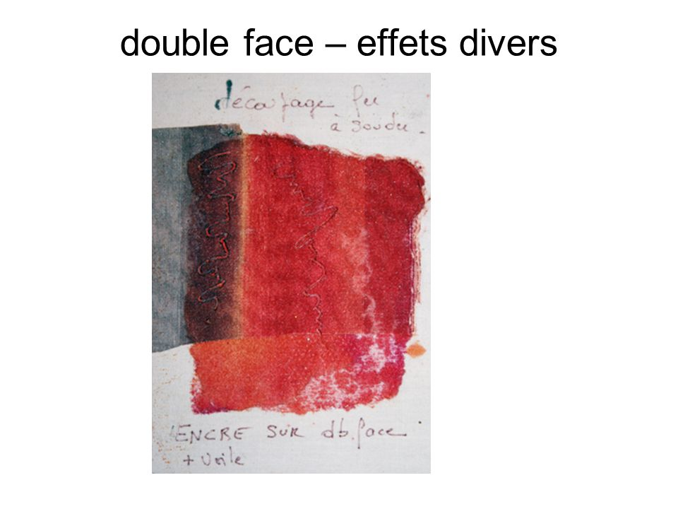 double face – effets divers