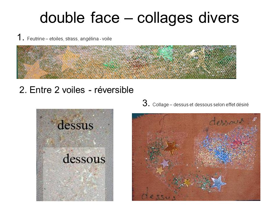 double face – collages divers