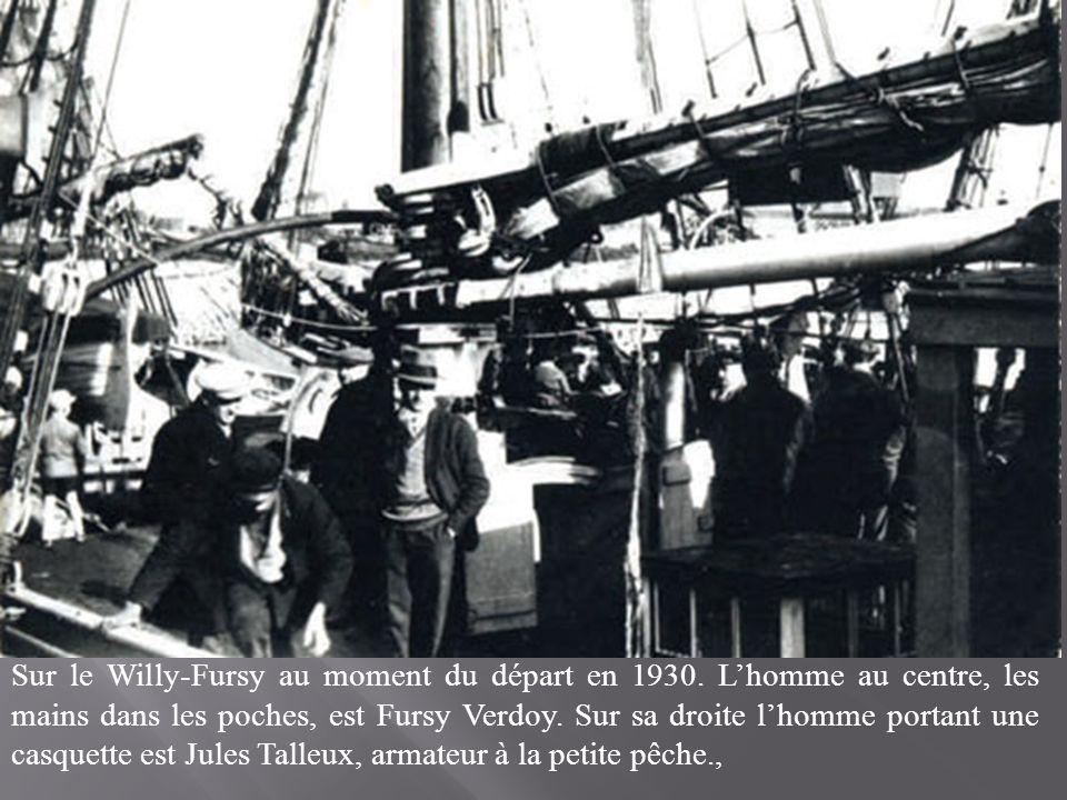 Sur le Willy-Fursy au moment du départ en 1930