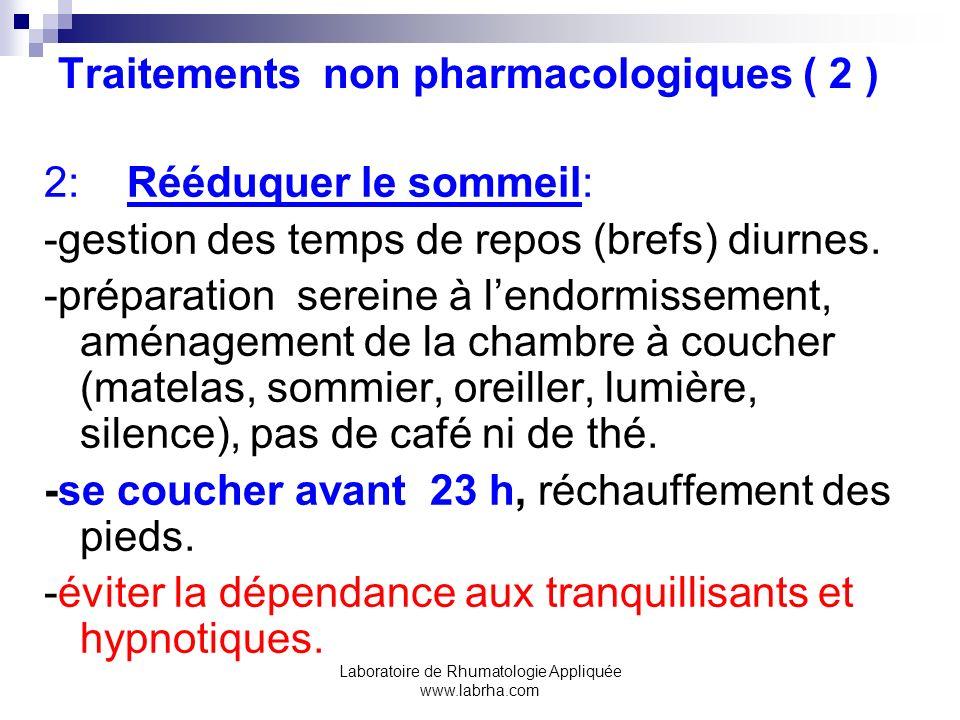 Traitements non pharmacologiques ( 2 )