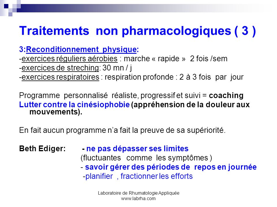 Traitements non pharmacologiques ( 3 )