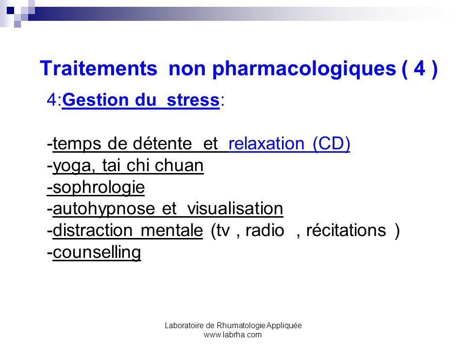 Traitements non pharmacologiques ( 4 )