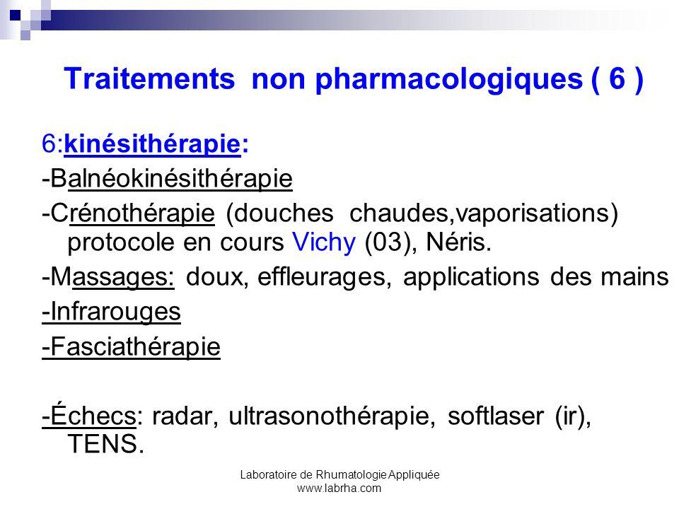 Traitements non pharmacologiques ( 6 )