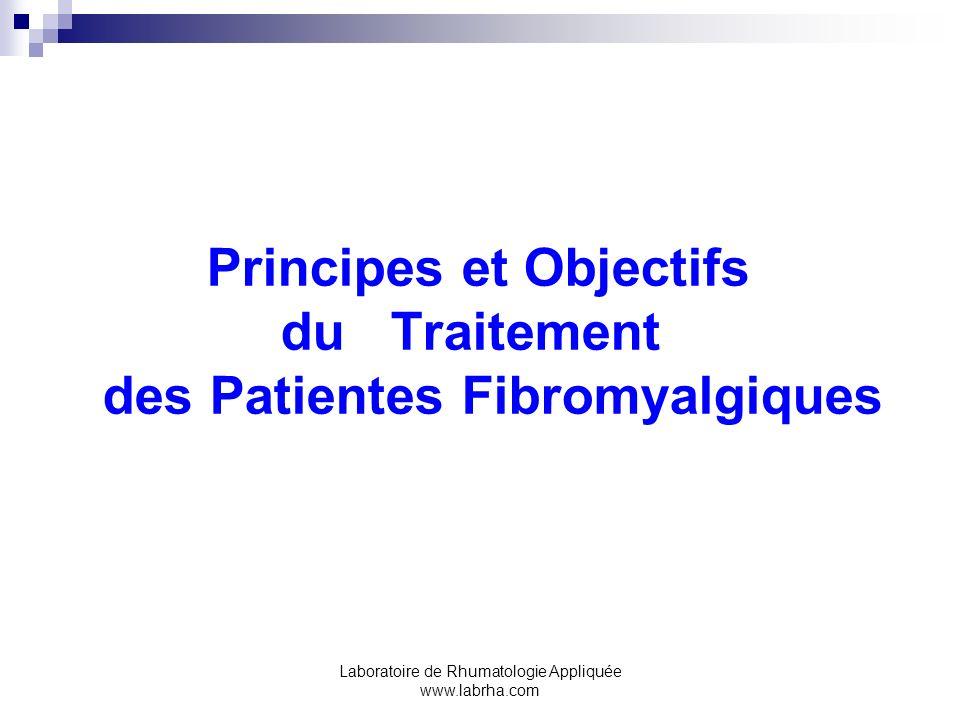 Principes et Objectifs du Traitement des Patientes Fibromyalgiques