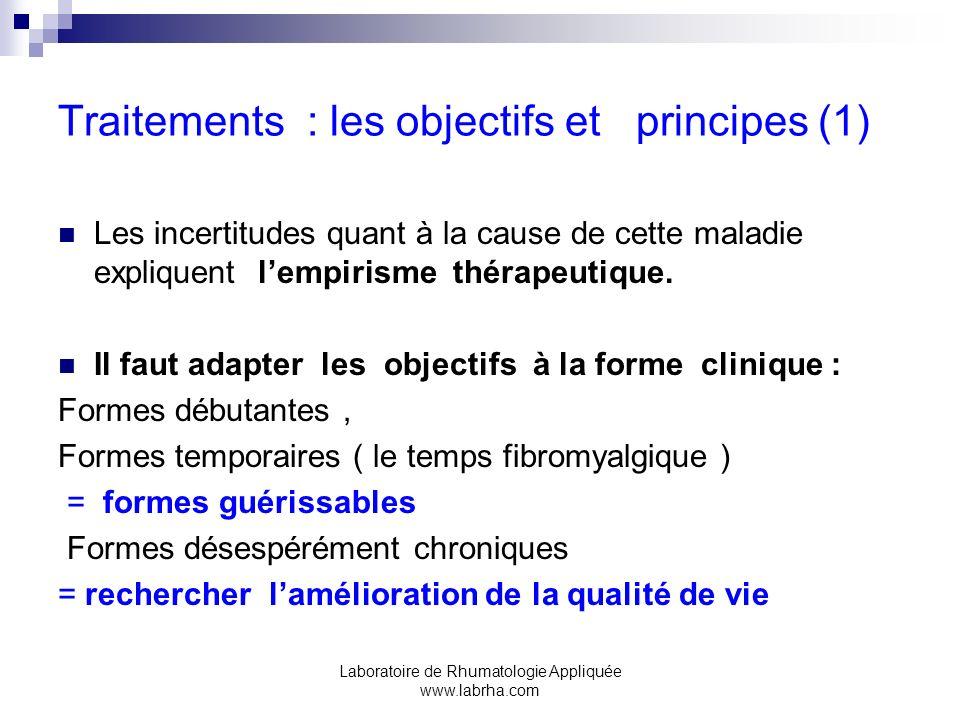 Traitements : les objectifs et principes (1)