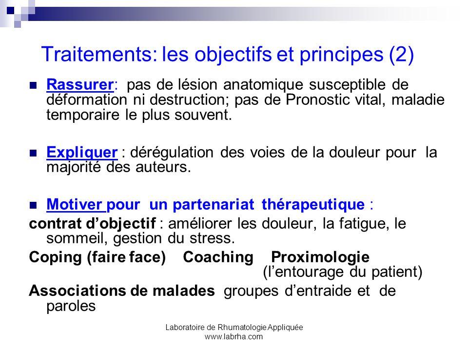 Traitements: les objectifs et principes (2)