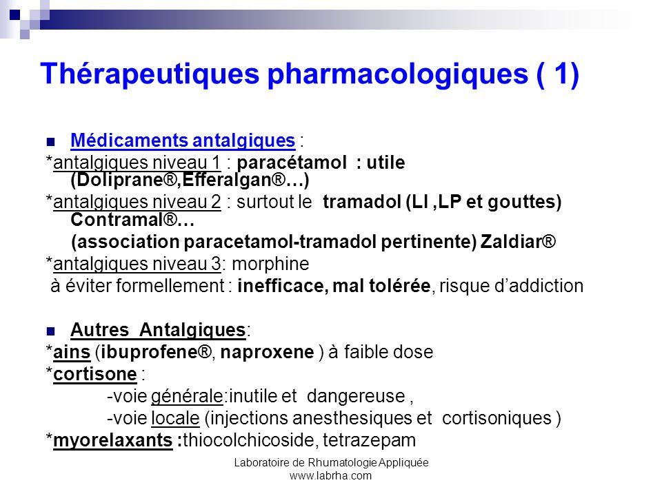 Thérapeutiques pharmacologiques ( 1)