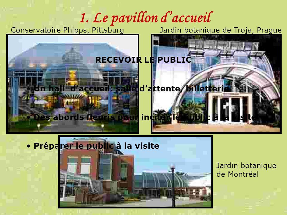 1. Le pavillon d'accueil RECEVOIR LE PUBLIC