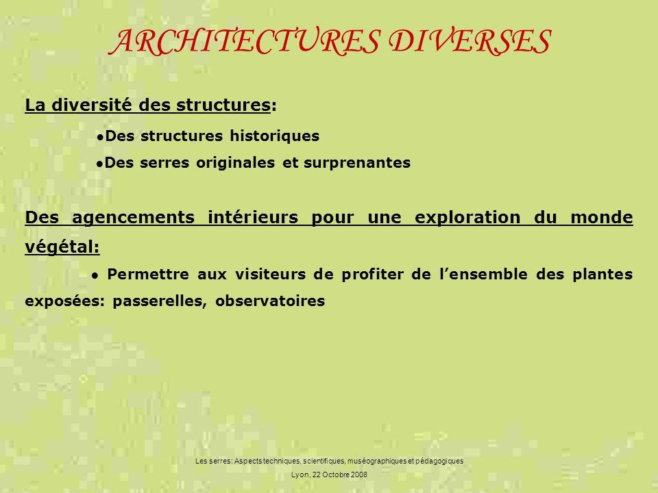 ARCHITECTURES DIVERSES