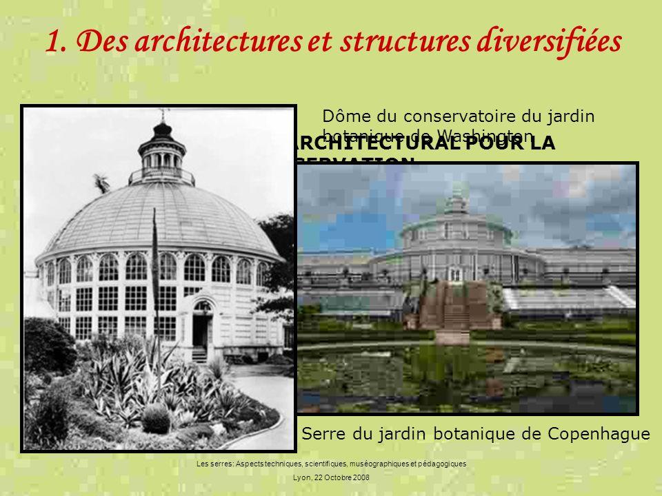 1. Des architectures et structures diversifiées