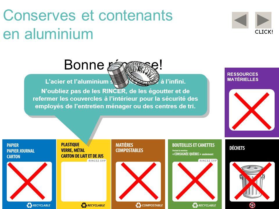 Conserves et contenants en aluminium