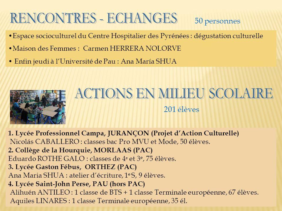 ACTIONS EN MILIEU SCOLAIRE