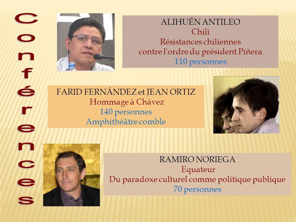 Conférences ALIHUÉN ANTILEO Chili Résistances chiliennes