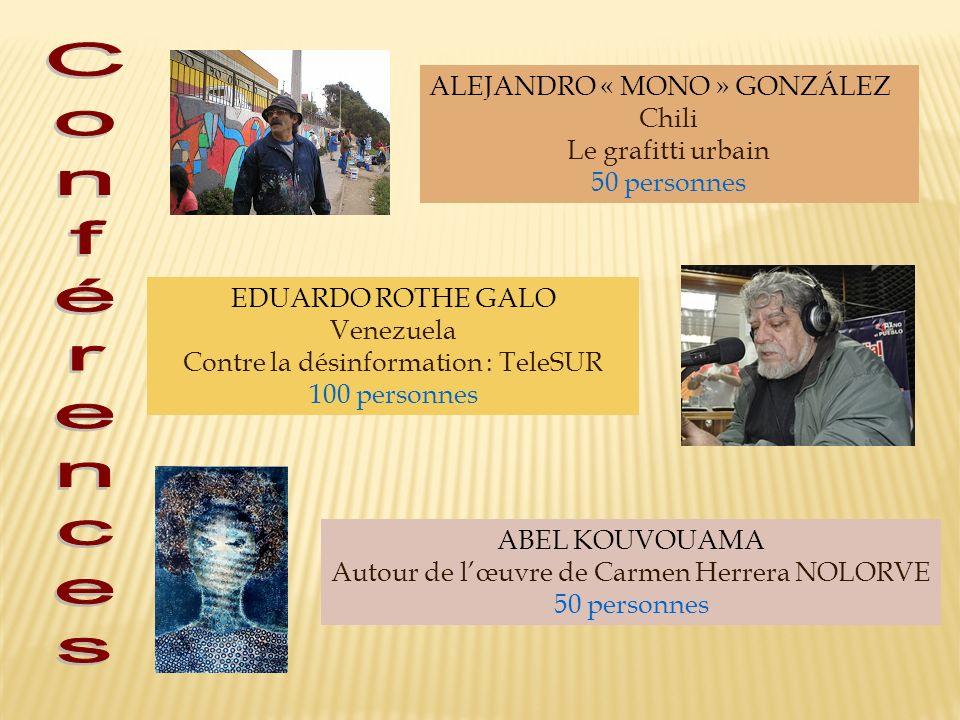 Conférences ALEJANDRO « MONO » GONZÁLEZ Chili Le grafitti urbain