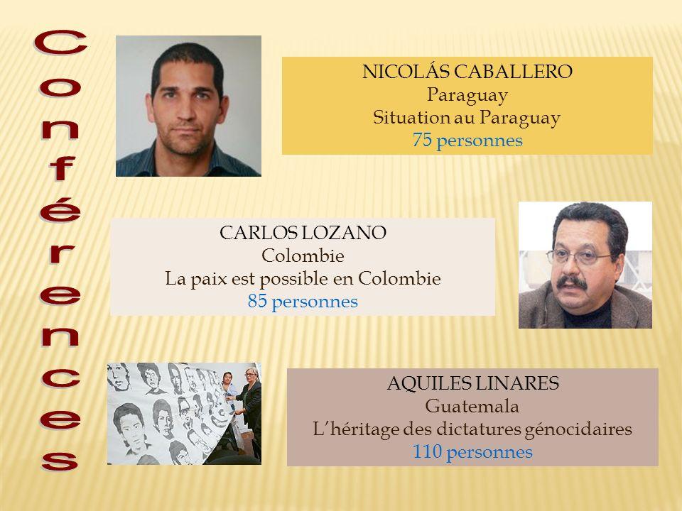 Conférences NICOLÁS CABALLERO Paraguay Situation au Paraguay